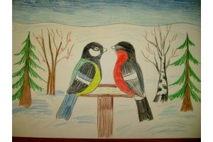 Нарисовать рисунок на тему зима 5