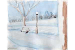 Нарисовать рисунок на тему зима 8