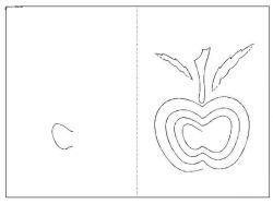Открытка своими руками яблоко 2