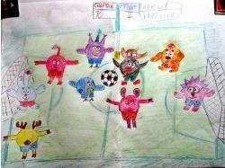 Детские рисунки про спорт