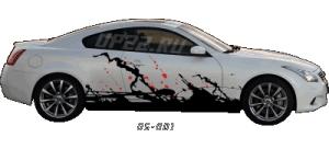Наклейки на капот авто 8