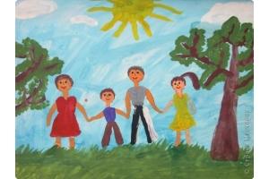 Моя семья рисунки 4