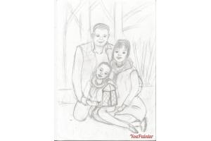 Моя семья рисунки 5