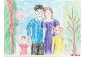Моя семья рисунки 6
