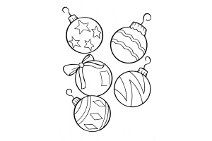 Новогодние раскраски для детей распечатать 3