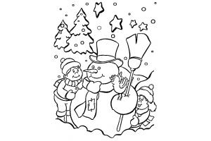Новогодние раскраски для детей распечатать 4