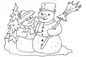 Новогодние раскраски для детей распечатать 8