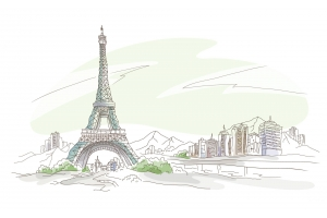 Эйфелева башня рисунок 1