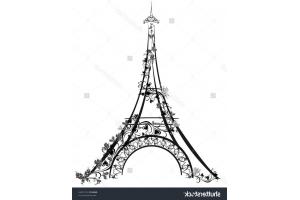 Эйфелева башня рисунок 2