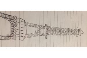Эйфелева башня рисунок 4