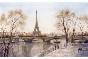 Эйфелева башня рисунок 6