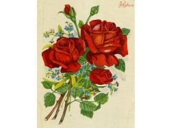 Ретро открытки цветы 7