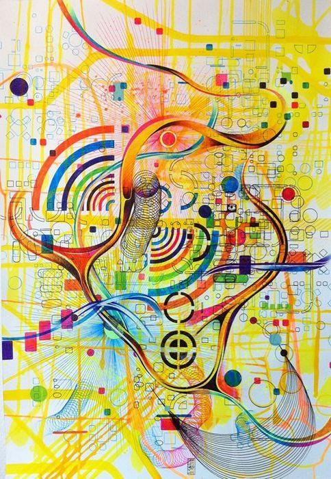 Абстракция рисунки цветов