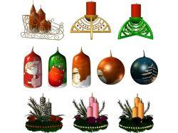 Новогодние свечи картинки 7