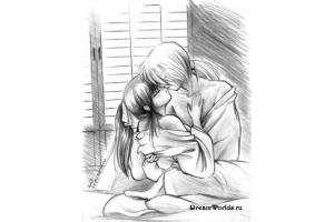Рисунки карандашом любовь 7
