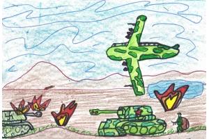 Рисунок на тему война глазами детей 1