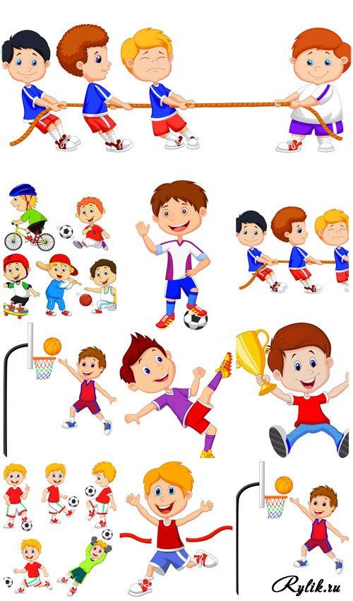 Спортивные человечки картинки для детей 4