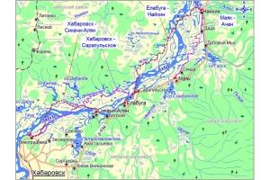 Река амур на карте 3