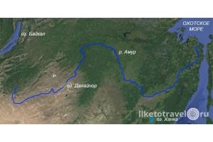 Река амур на карте 6
