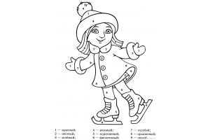 Раскраски зимние забавы детей 5