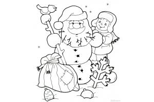 Раскраски зимние забавы детей 6