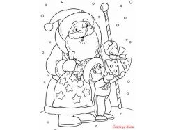 Новогодние рисунки елка раскраска 7