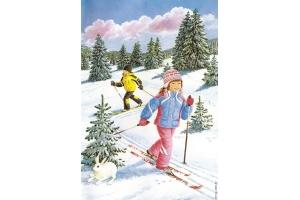 Рисунки зимние забавы детей 7