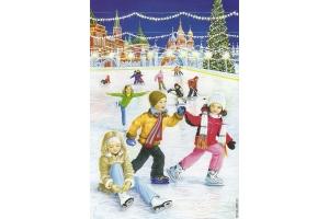 Рисунки зимние забавы детей 8