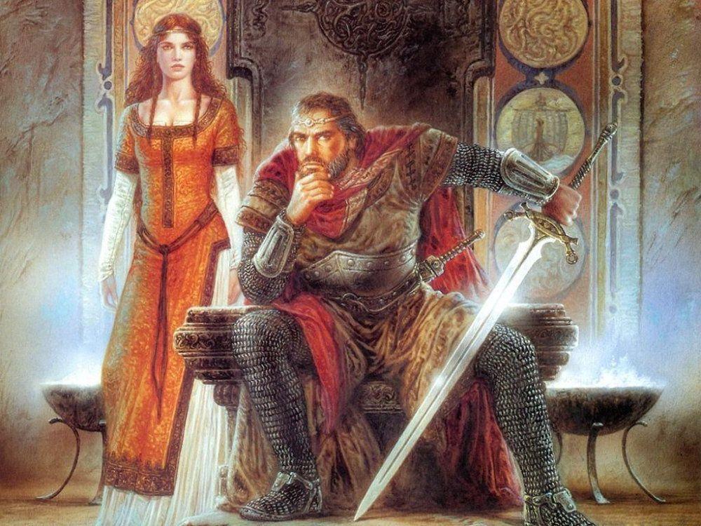 Рыцарь на троне картинка