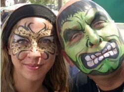 Хэллоуин рисунки на лицах 7
