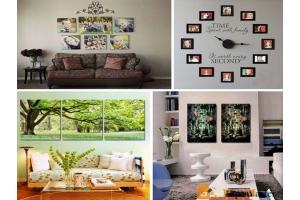Как красиво оформить стену фотографиями 1