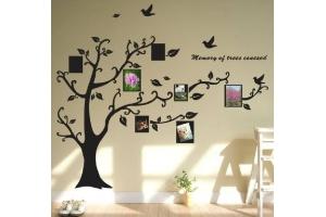 Как красиво оформить стену фотографиями 4
