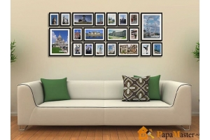 Как красиво оформить стену фотографиями 5