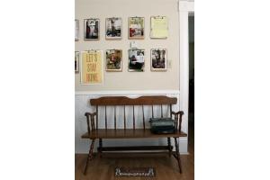 Как красиво оформить стену фотографиями 8