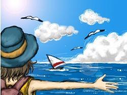 Рисунки на тему море лето 7