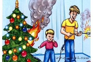 Пожар рисунки 2