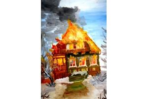 Пожар рисунки 3