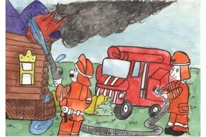 Пожар рисунки 5