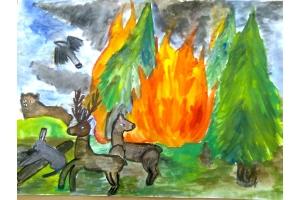 Пожар рисунки 7