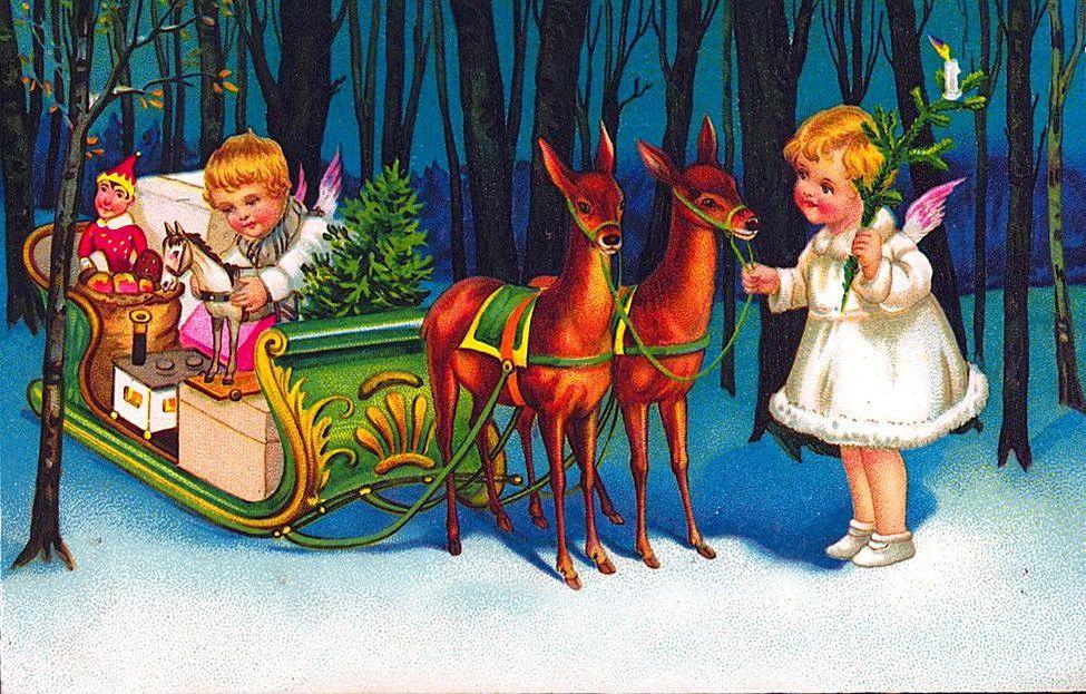 Рождество открытки немецкие