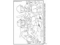 Древесный кенгуру - раскраски для детей 6