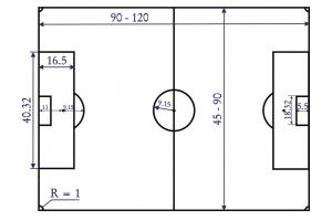 Разметка футбольного поля 4