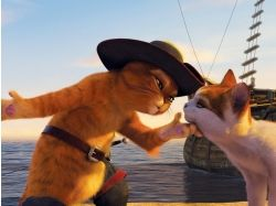 Кот в сапогах мультик картинки