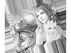 Силуэт девушек фэнтези картинки черно-белые 7
