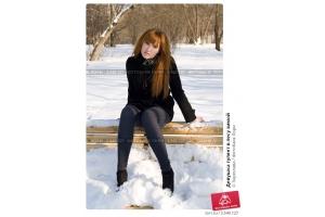Фото девушек в лесу зимой 2