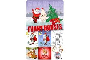 Смешные лошади рисунки 1