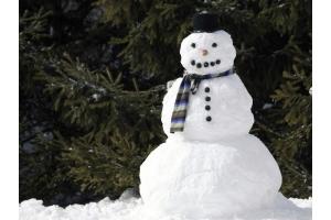 Снеговик из снега фото 1