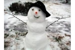 Снеговик из снега фото 2