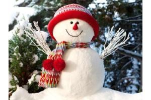 Снеговик из снега фото 4