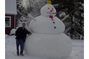 Снеговик из снега фото 7